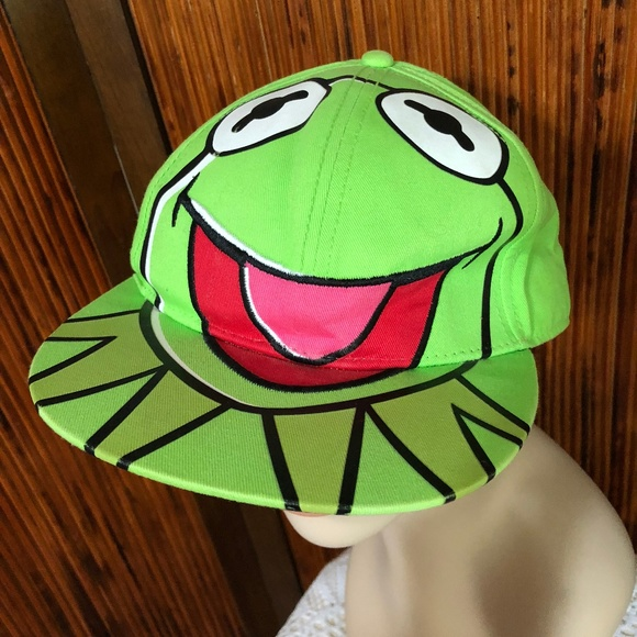 80aca5a1 Kermit the Frog Muppets licenced Fitted Cap